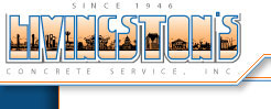 Livingston Concrete Service Logo